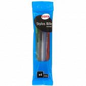 Cora - 4 stylos bille assortis
