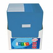 Cora protège cahier 24x32 pvc avec rabats 15/100 bleu