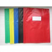 Cora lot de 5 protège cahiers sans rabat opaque 24x32 cm assortis