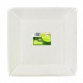 Cora assiettes x20 carrées blanches 25x25cm