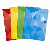 Cora cahier piqûre (agrafe) 21 x 29.7 cm 96 pages seyes grands carreaux 90g couverture vernie