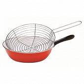 Baumalu poêle à friture induction coloris rouge 26cm