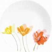 """Assiette plate """"flowerly"""" opale"""