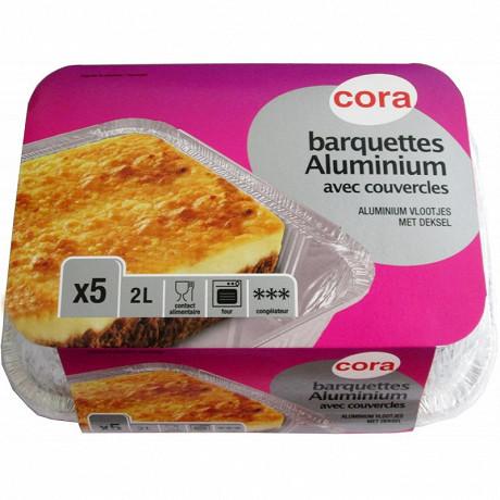 Cora barquettes x5 aluminium 2 litres