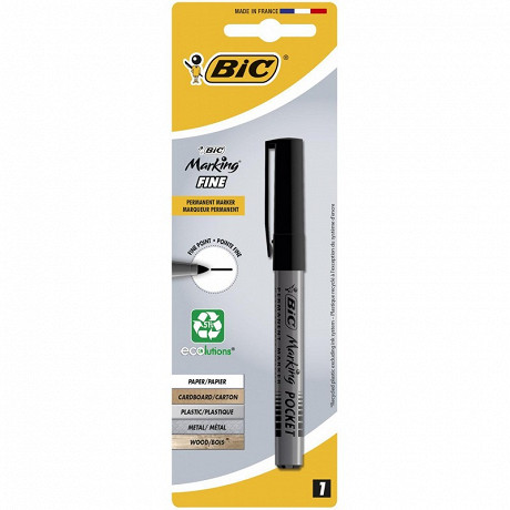 Bic marqueur marking pocket noir pointe ogive moyenne