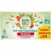 Jardin bio étic thé vert brûleur bio étui + 24 sachets 36g