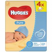 Huggies lingettes pure 4x56