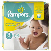 Pampers new baby couches bebe T3 X29 paquet