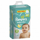 Pampers couches bebe Baby dry T3 X 136 giga