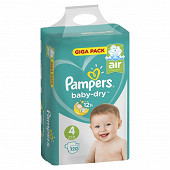 Pampers couches bebe Baby Dry T4 X 120 giga