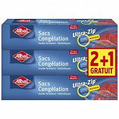 Albal sac congélation 3l ziploc moyen x3 2+1 offert