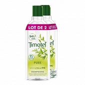 Timotei shampooing pure extrait de thé vert bio cheveux normaux 2x300ml
