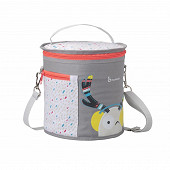 Badabulle sac repas isotherme montagne gris corail