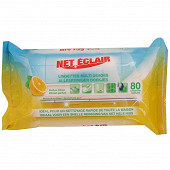 Net éclair lingettes multi-usages parfum citron x80