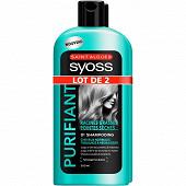 Syoss shampooing purifiant 2x500ml