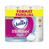 Moltonel style papier toilette x18 format familial