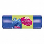 Cora sacs poubelle x20 à poignées / bretelles 20l