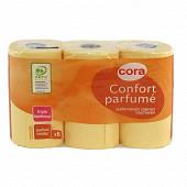 Cora papier toilette 3 plis vanille x6 rouleaux