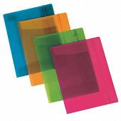 Chemise 3 rabats à élastique uni polypro transparent