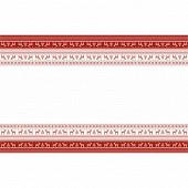 Nappe pliée Hélène rouge 138x220cm