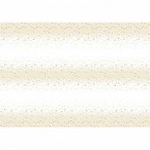 Nappe pliée starlet white/gold 138x220cm