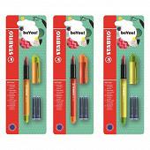 Stabilo - Blister 1 roller stabilo becrazy! + 2 cartouches - collection duo colors - décors assortis