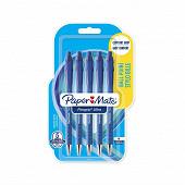 Papermate 5 stylos bille flexgrip ultra retractables