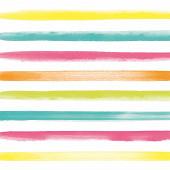 Mesa bella serviettes x20 rayures multicolore 33x33cm
