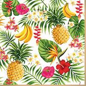 Mesa bella serviette x20 tropicalia 33x33cm 3 plis