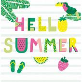 Mesa bella serviette x20 hello summer 33x33cm 3 plis
