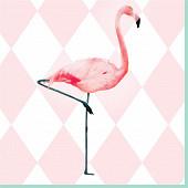 Mesa bella serviette x20 exotique rose 33x33cm 3 plis