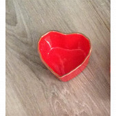 Ramequin en grès forme coeur