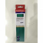 Lot de 12 crayons graphite HB en plastique