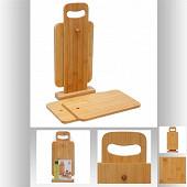 4 planches à tapas + support en bois