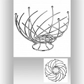 Corbeille fruits spirale
