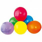 Ballons x50 couleurs assorties