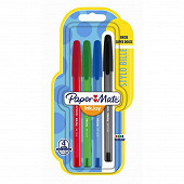 Papermate 4 stylos inkjoy 100 cap moyenne