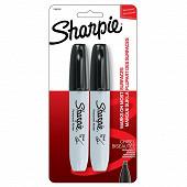 2 marqueurs SHARPIE Chisel noir