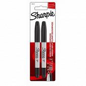 Sharpie - 2 marqueurs Sharpie Twin tip noir