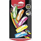 Surligneur pocket x5 couleurs assorties