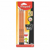 Crayons graphite hd x6 + 1 gomme T600