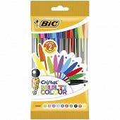 Bic stylo-bille cristal multicolor x10
