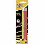 Bic crayon graphique evolution fluo X4