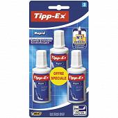 Bic flacon correcteur tipp-ex rapid x 3