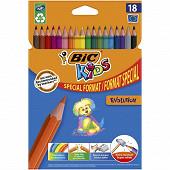 Bic crayon de couleur écolution kids évolution x18