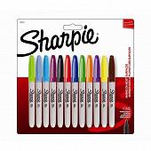 Sharpie 12 marqueurs Sharpie fine assortis