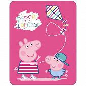 "Plaid 110x140cm  ""Peppa Pig Récréation"""