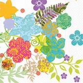 Cora serviettes x20 hippie flowers 33x33cm 3 plis