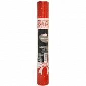 Cora chemin de table winter knot rouge 4m80x0m38