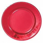 Cora assiettes x6 rouge métallic ronde 29cm